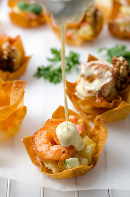 Walnut Shrimp Cups - (Free Recipe below)