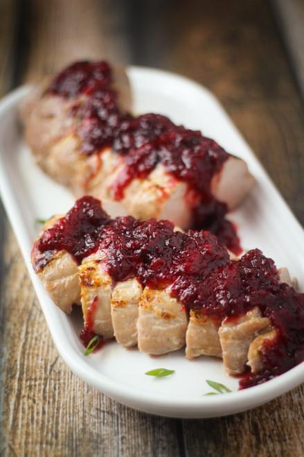 Pork Tenderloin with Chipotle-Cranberry Sauce - (Free Recipe below)