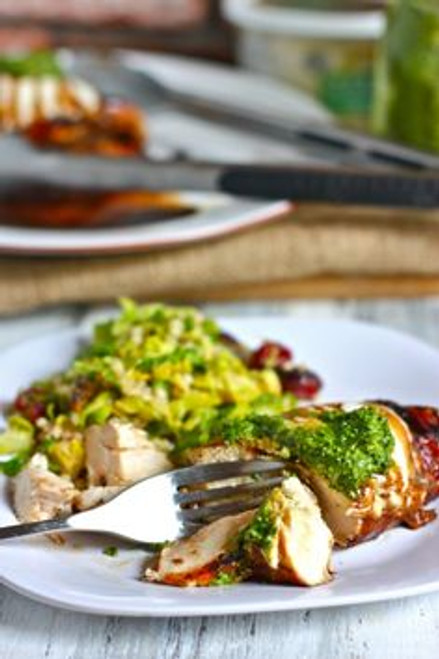 Grilled Balsamic Chicken with Mozzarella and Pesto - (Free Recipe below)