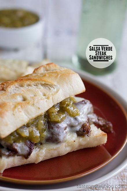 Salsa Verde Steak Sandwiches - (Free Recipe below)