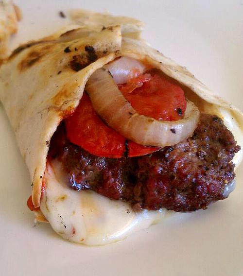 Grilled Pepperjack Cheeseburger Wraps - (Free Recipe below)