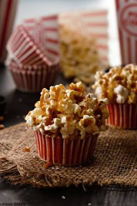 Brown Butter Salted Caramel Popcorn Cupcakes - One Dozen