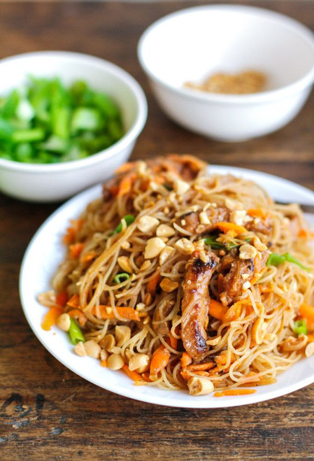 HOISIN PORK WITH RICE NOODLES - (Free Recipe below)