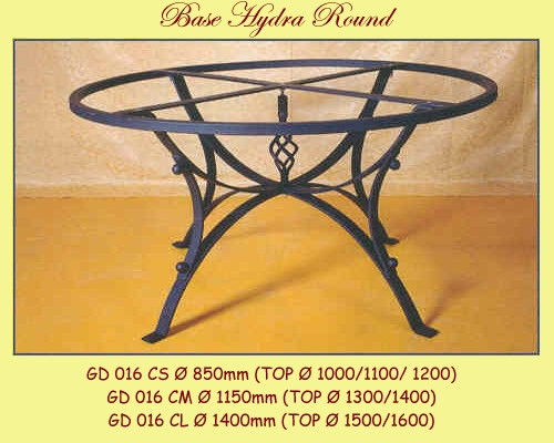 Hydra Wrought Iron Table Base - multiple sizes available