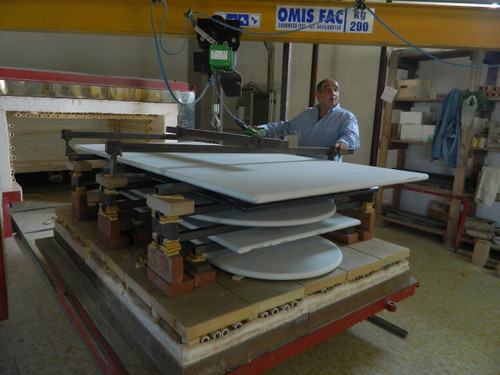 Production Process Pictures of Italian Tables Being Made