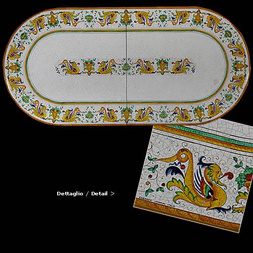 Raffaellesco Dragon Table Design - many sizes, shapes available