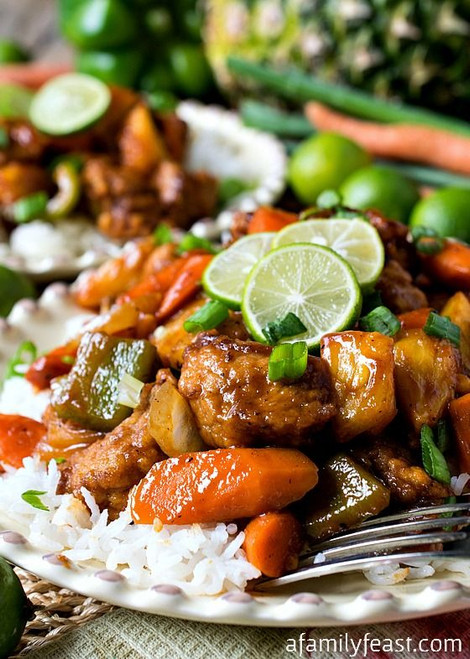 Sweet and Sour Key Lime Pork - (Free Recipe below)