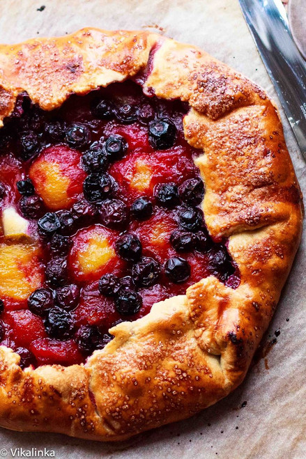Yellow Plum and Blueberry Galette - (Free Recipe below)
