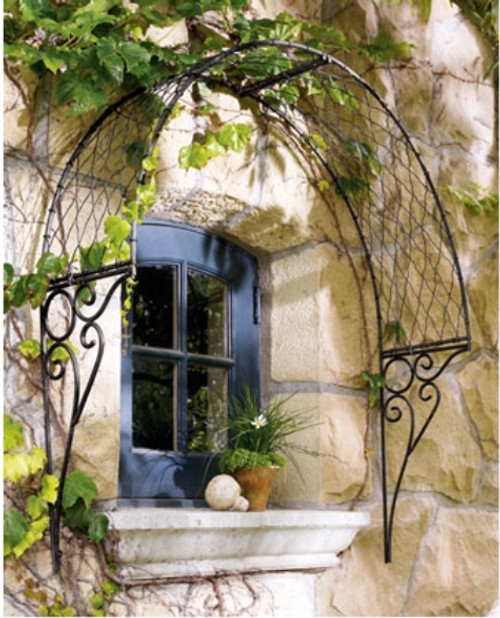 Custom Wrought Iron Over Door Or Window English Trellis   Custom Sizes,  Designs