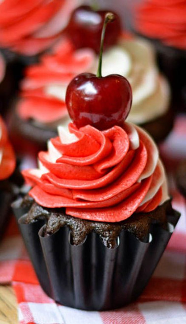 Bourbon Black Forest Cupcakes - One Dozen