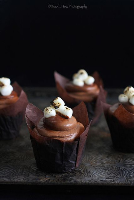 Chocolate Toasted Marshmallow Cupcakes - One Dozen