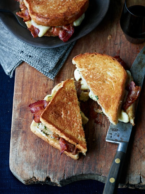 Bourbon and Bacon Grilled Cheese - (Free Recipe below)