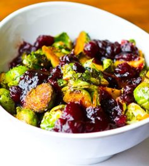 Cranberry Balsamic Brussel Sprouts - (Free Recipe below)