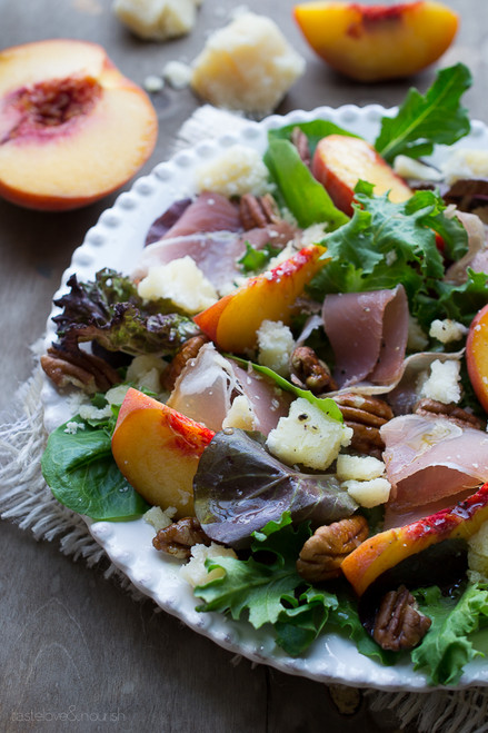 Peach Prosciutto and Parmesan Salad - (Free Recipe below)