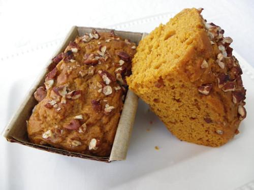 Organic Pumpkin Pecan Bread - 3 Petit Loaves