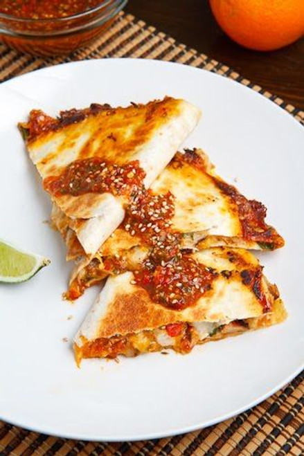 Sweet Chili Chicken Quesadilla - (Free Recipe below)