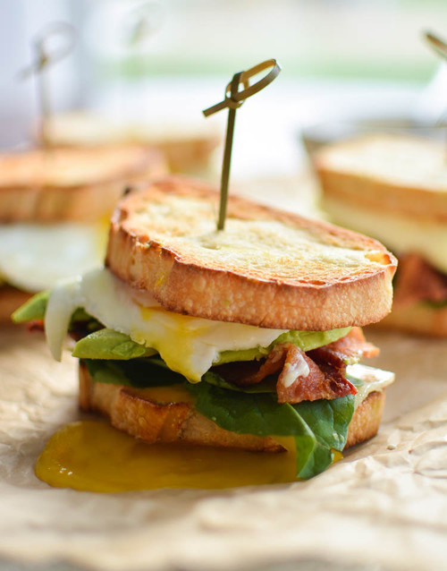 Perfect Breakfast Sandwiches with Spicy Gruyere Hollandaise - (Free Recipe below)