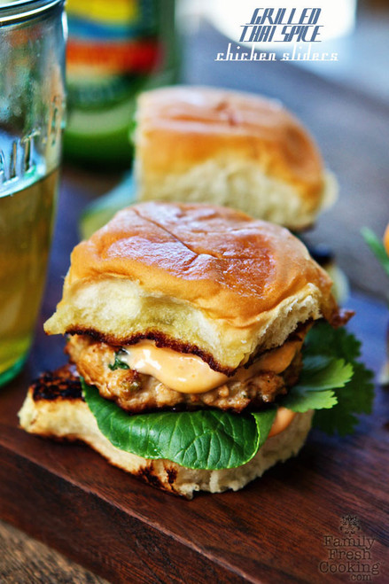 Grilled Thai Spice Chicken Sliders - (Free Recipe below)