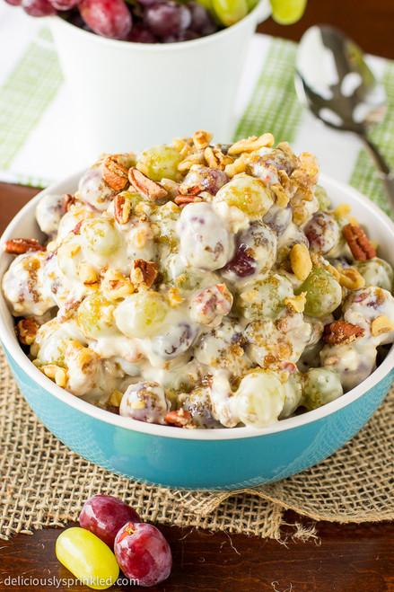 Pecan Crunch Grape Salad - (Free Recipe below)