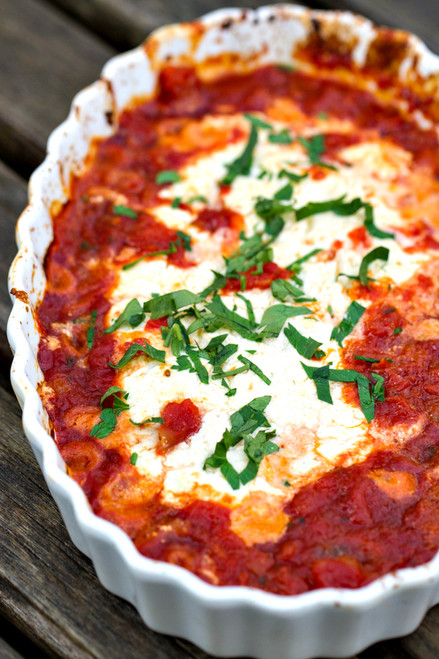 Baked Goat Cheese with Marinara- (Free Recipe below)
