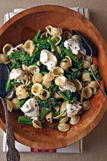 Orecchiette with Rapini and Goat Cheese - (Free Recipe below)