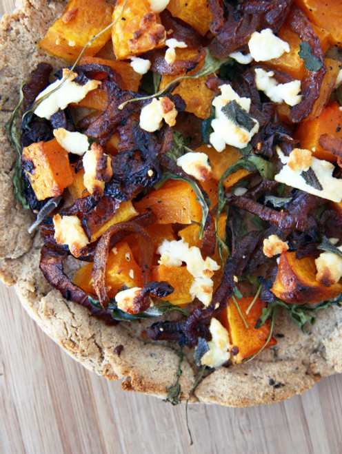 Caramelized Onion, Roasted Butternut and Goat Cheese Pizza - (Free Recipe below)