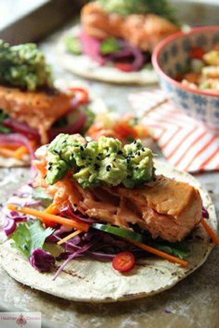 Asian Salmon Tacos - (Free Recipe below)