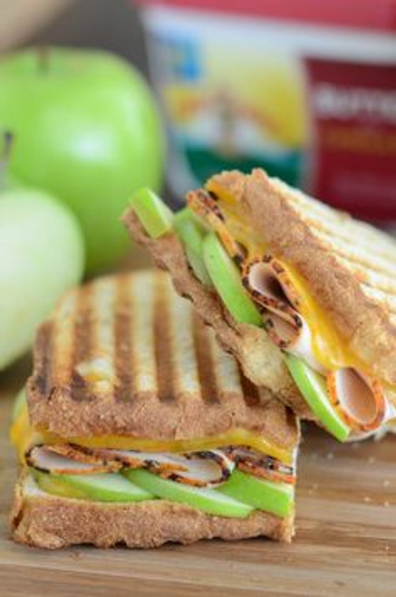 Apple, Cheddar & Turkey Panini - (Free Recipe below)