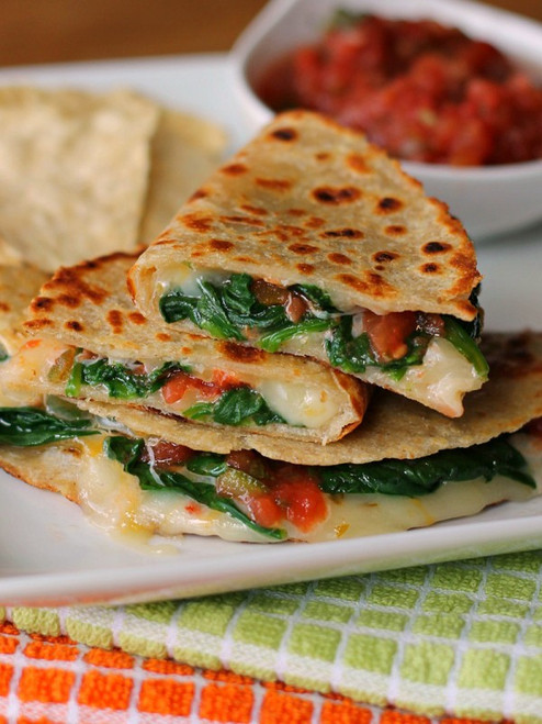 Spicy Spinach Quesadillas - (Free Recipe below)