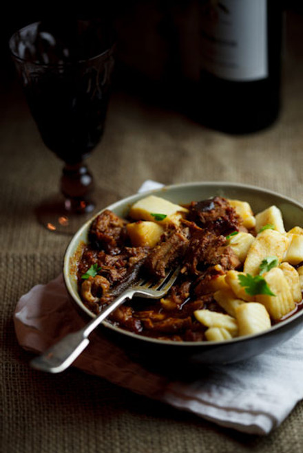 Slow-braised Pork Ragu with Roasted Garlic Gnocchi - (Free Recipe below)
