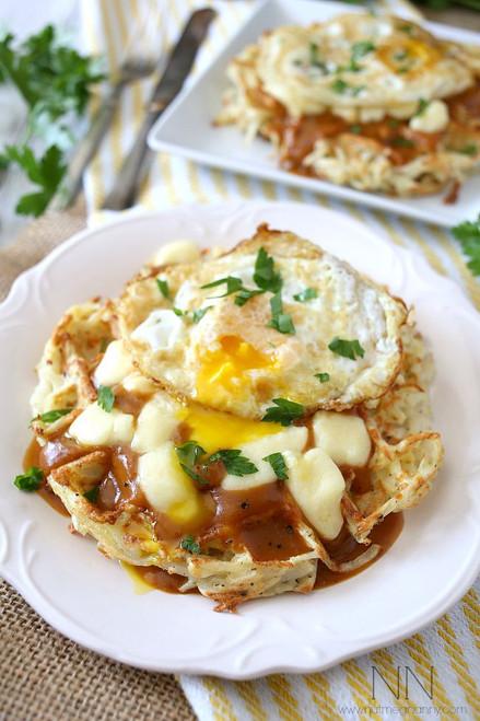 Poutine Hash Brown Waffles - (Free Recipe below)