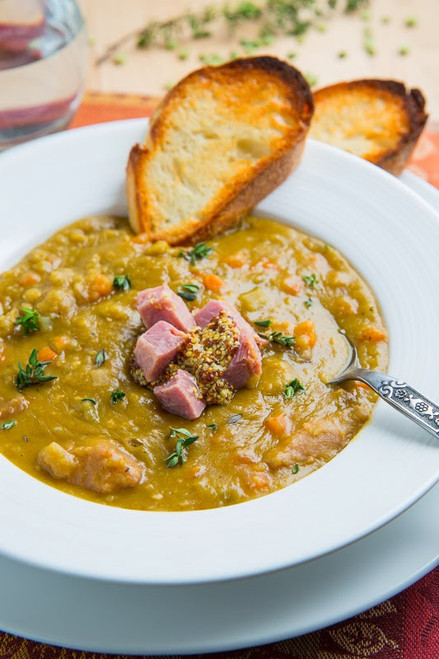 Comforting Split Pea Soup - (Free Recipe below)