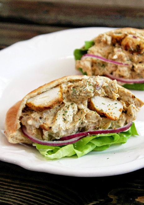 Tandoori Chicken Salad Sandwich - (Free Recipe below)