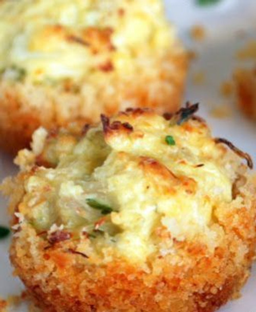 Parmesan Crusted Crab Cake Bites - (Free Recipe below)