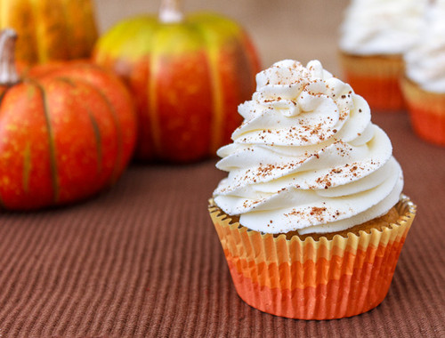 Pumpkin Pie Cupcakes - One Dozen