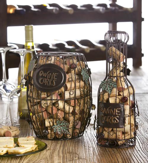 Wine Cork Holder - Barrel or Bottle