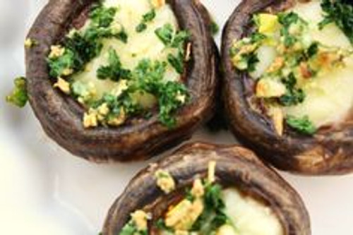 Brie Stuffed Mushrooms - (Free Recipe below)