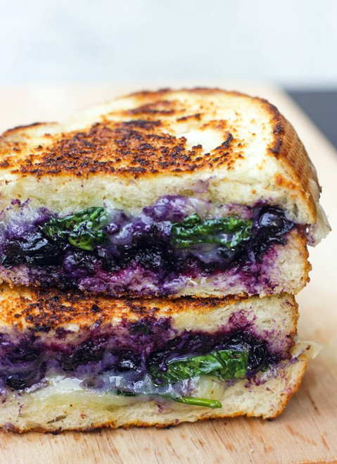 Balsamic Blueberry Grilled Cheese Sandwich - (Free Recipe below)