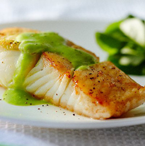 Grilled Halibut with Tomato Vinaigrette - (Free Recipe below)