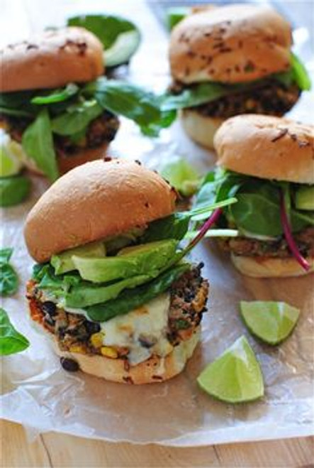 Chipotle Black Bean Burgers - (Free Recipe below)