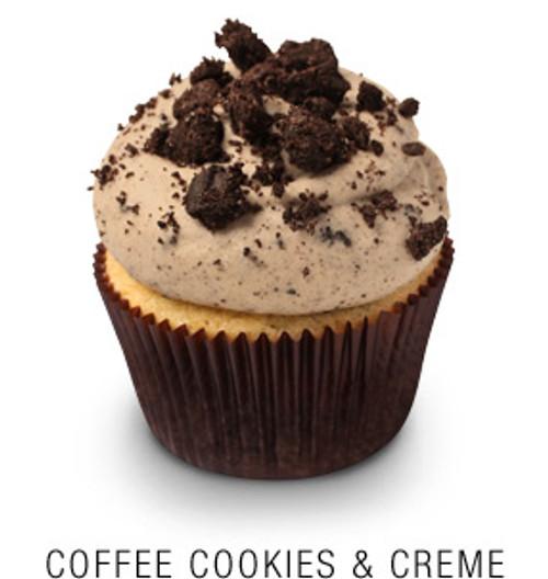 Coffee, Cookie & Creme Cupcakes - One Dozen