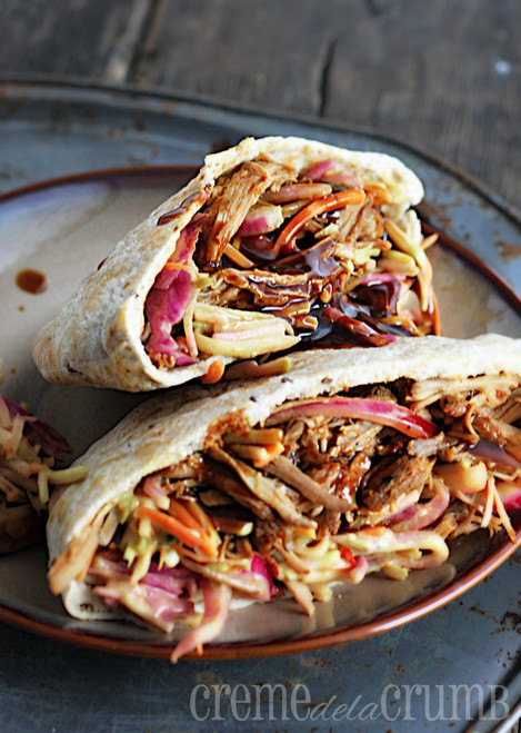 Memphis Pork Pitas with Southwest Slaw - (Free Recipe below)