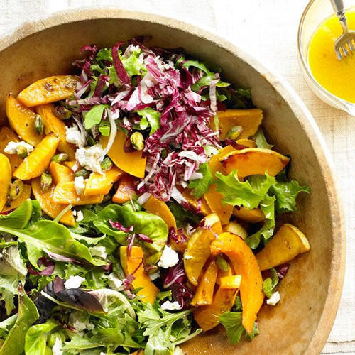 Caramelized Squash Salad with Pistachios and Goat Cheese - (Free Recipe below)
