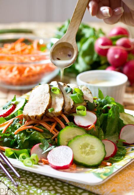 Vietnamese Chicken Banh Mi Salad - (Free Recipe below)