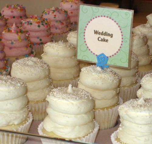 Elegant Wedding Cake Cupcakes - One Dozen