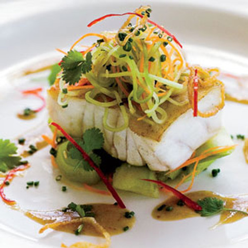 Grouper with Cucumber Salad and Soy Mustard - (Free Recipe below)