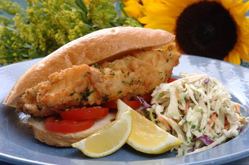 Fried Grouper Sandwich, with Cajun Aioli - (Free Recipe below)