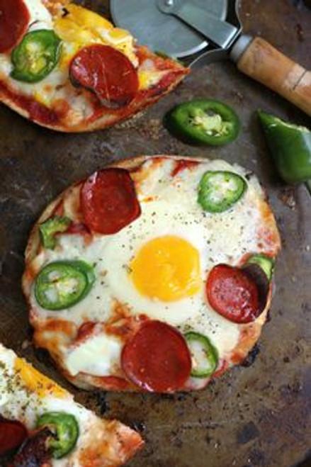 Breakfast Pizza Bagels - (Free Recipe below)