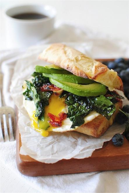 Egg, Avocado Sun Dried Tomato Breakfast Sandwich - (Free Recipe below)