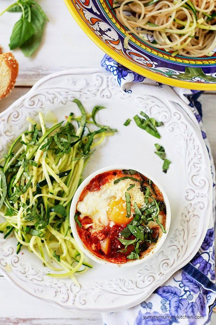 Italian Baked Eggs - (Free Recipe below)